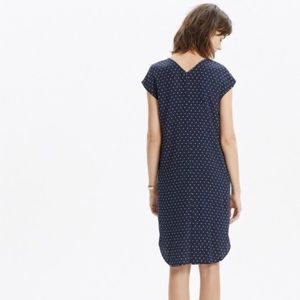 334c8d58116 Madewell Dresses - Madewell Polkadot Navy Dress